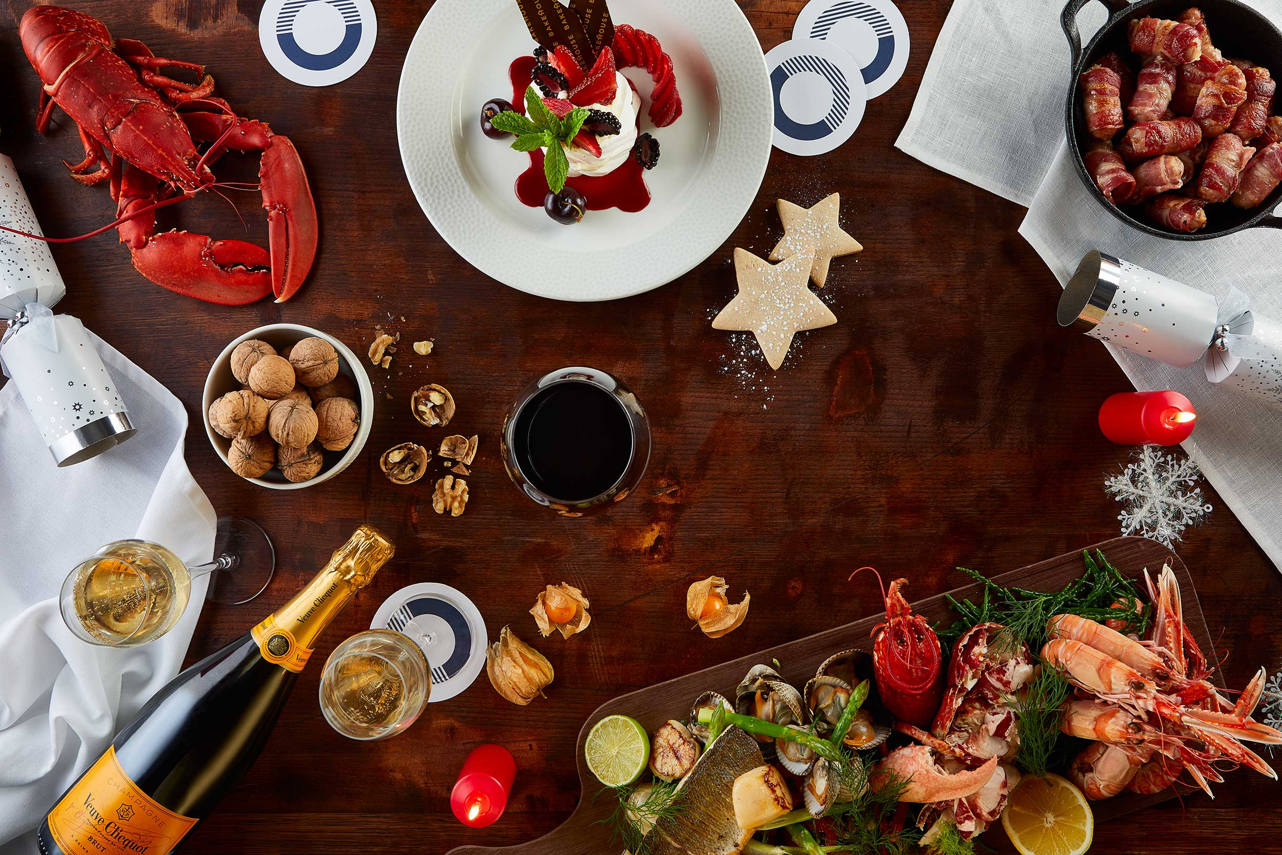 Scotts restaurant Christmas Table, Buzzworks advertising, Glasgow food photographer