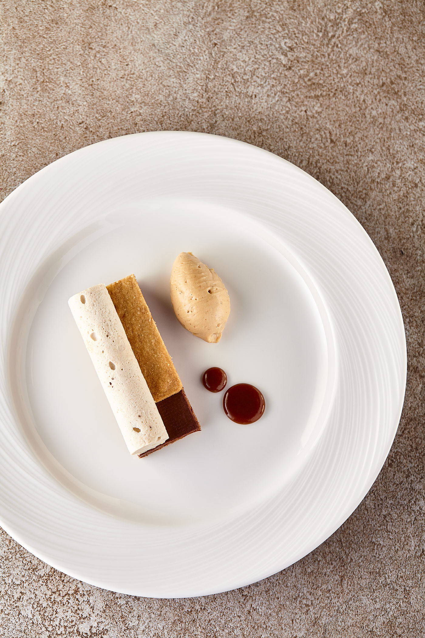 Caramel Dessert, Glasgow Science Centre, restaurant food photography