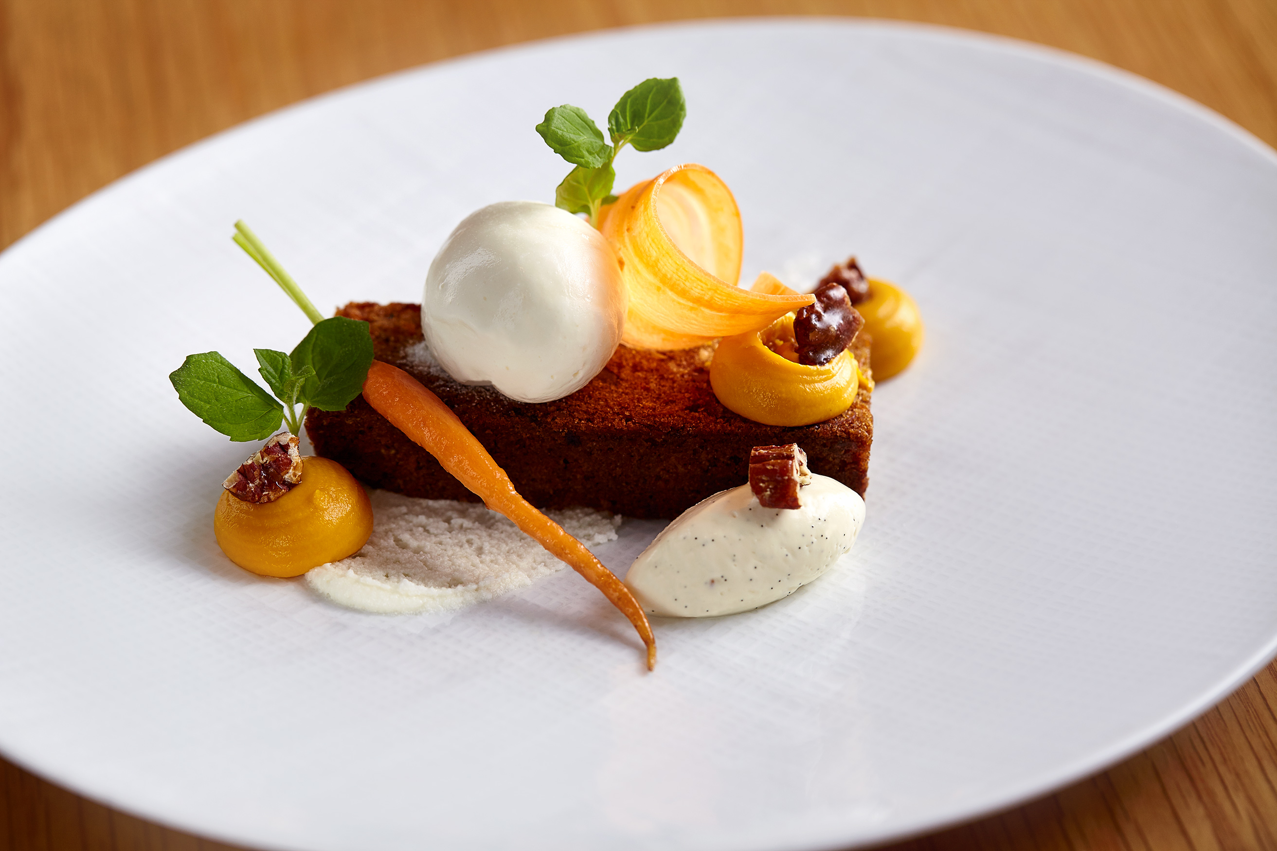 Carrot Cake Dessert, The Honours Restaurant, Edinburgh food photographer