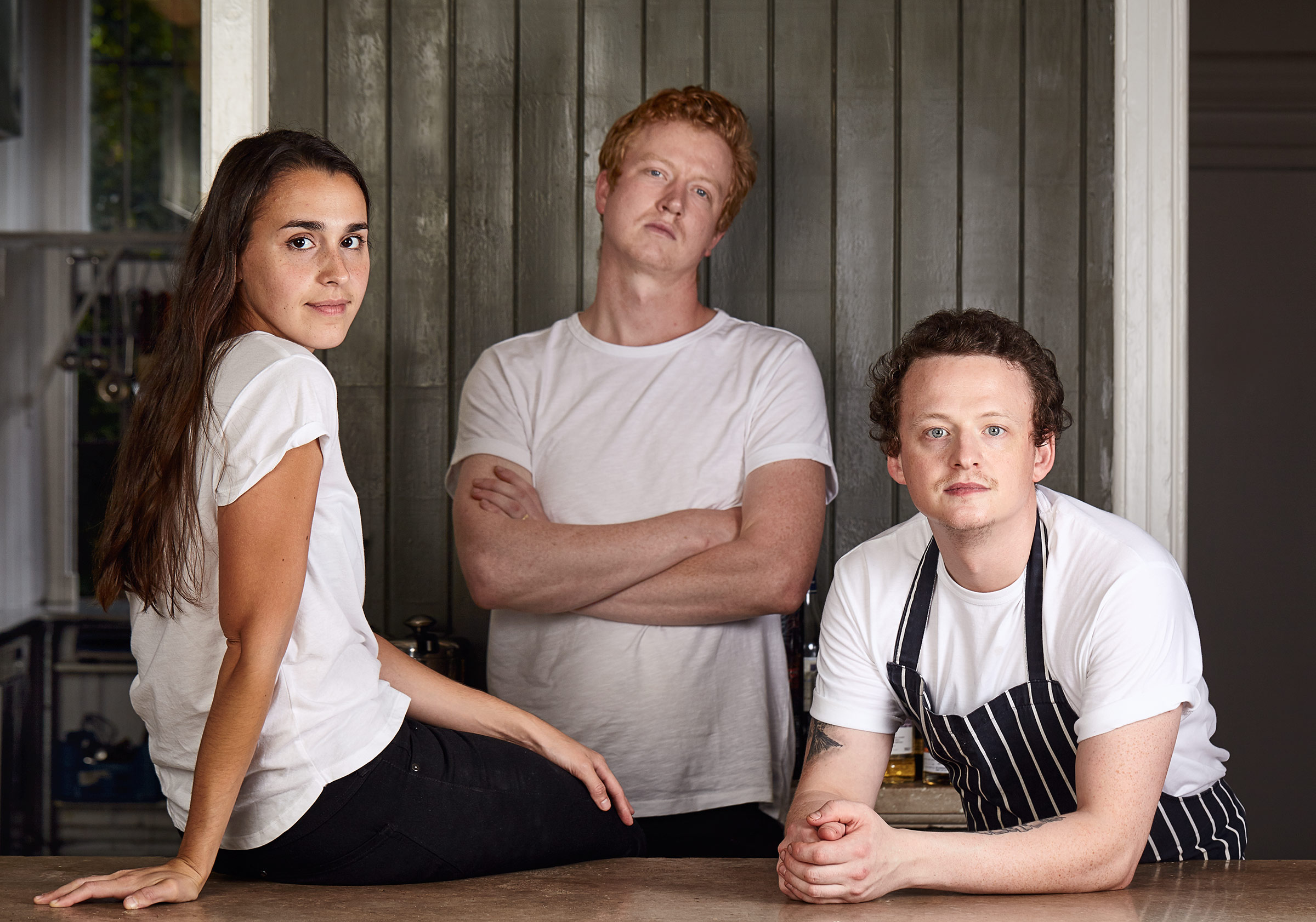 Sashana, Ben and James at the Edinburgh Food Studio