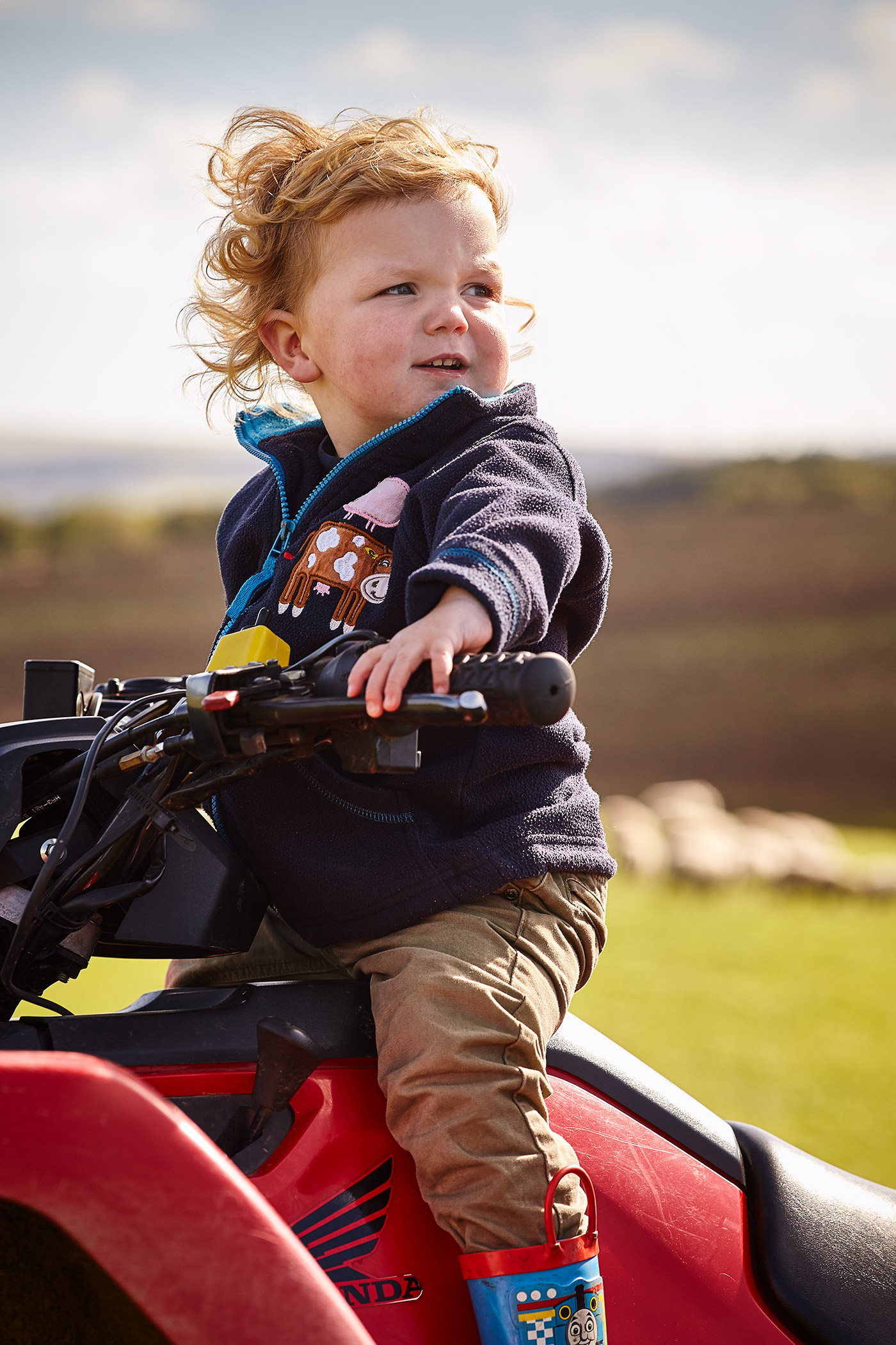Farm Kid on Quad Bike, East Lothian