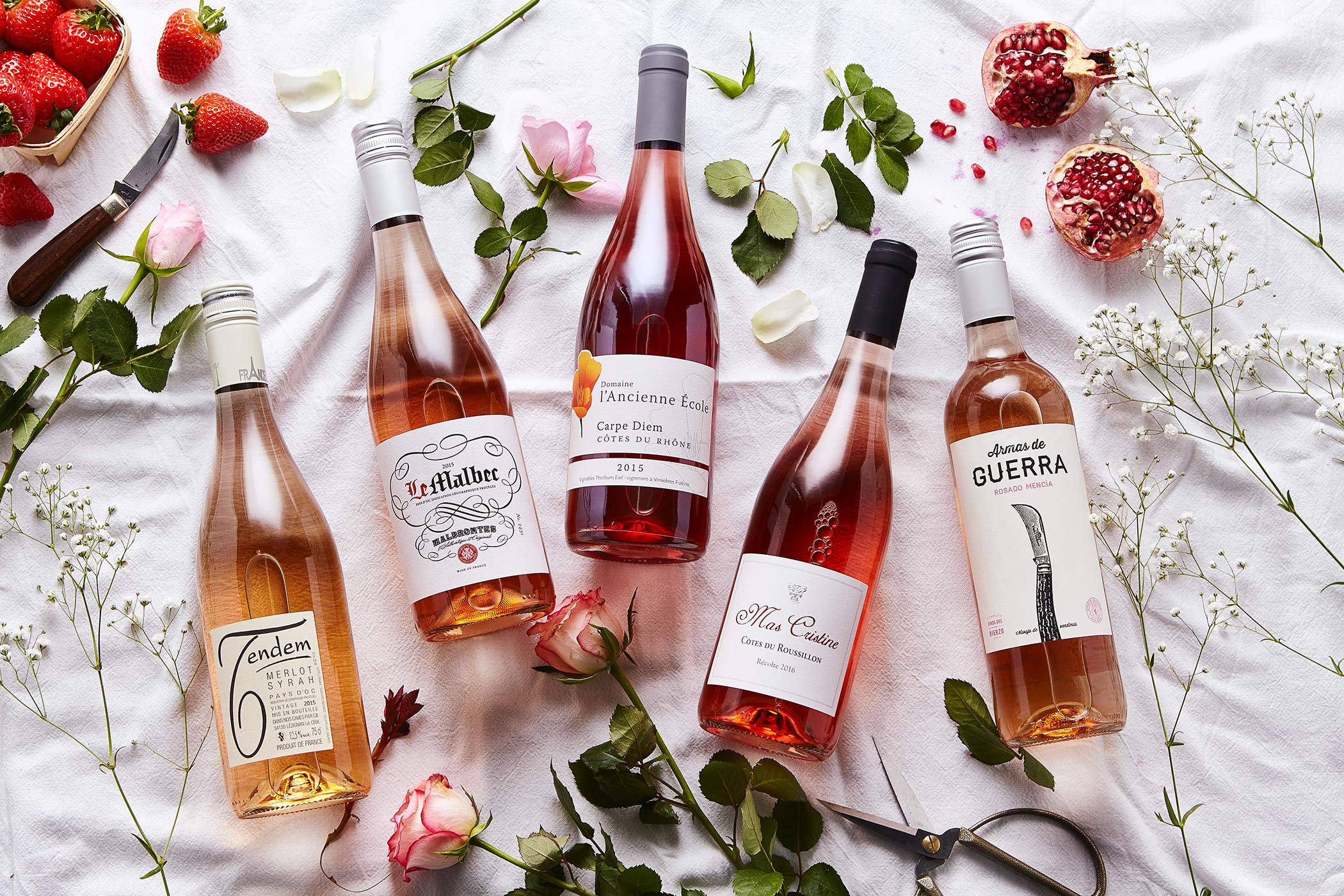 Rose Wines, De Burgh Wine merchants, independent wines
