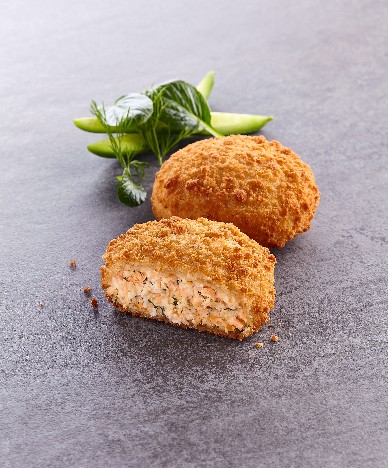 Salmon and Dill Fishcakes, Thistle Seafoods food packaging photography, Glasgow food photographer.