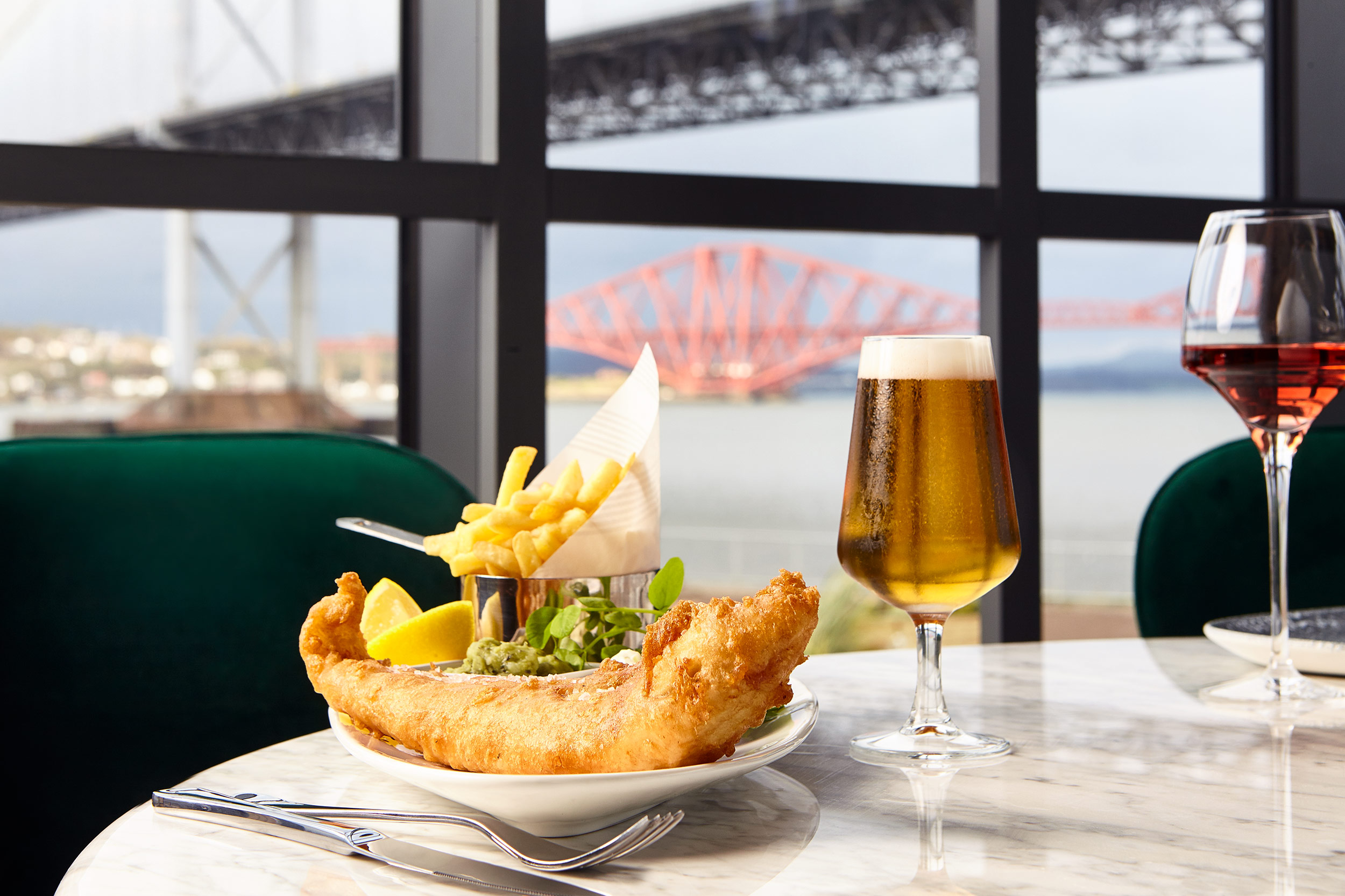 Scotts South Queensferry, Fish and Chips, Edinburgh food photographer