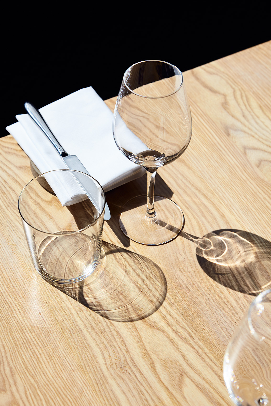 Table, Glasses and Cutlery, Burough Restaurant, Leith Edinburgh